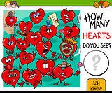 counting hearts activity