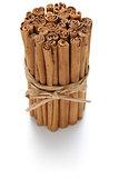 ceylon cinnamon sticks isolated on white background