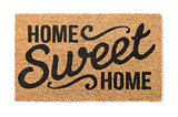 Home Sweet Home Welcome Mat Isolated on White