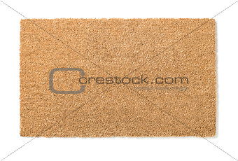 Blank Home Sweet Home Welcome Mat Isolated on White