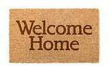 Welcome Home Mat On White