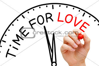 Time For Love Clock Concept