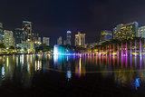 Kuala Lumpur Night Skyline from KLCC Park