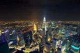 Kuala Lumpur Aerial Nightscape