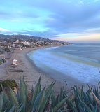 Sunset view of Main beach in Laguna Beach