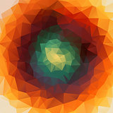 Round abstract 2D geometric colorful background