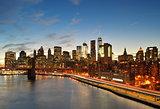 Manhattan at sunset.