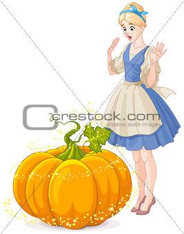 Cinderella Surprised by a Magical Pumpkin