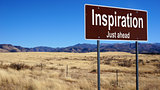 Inspiration brown road sign