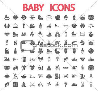 Baby icons set.