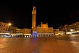 Piazza del Campo by Night - Siena Italy