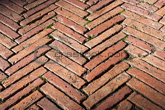 Flooring with old Bricks - Siena Italy