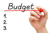 Budget List Concept