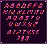 colorful polygonal font