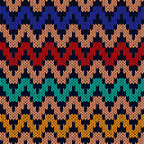 Geometrical zigzag seamless knitted pattern