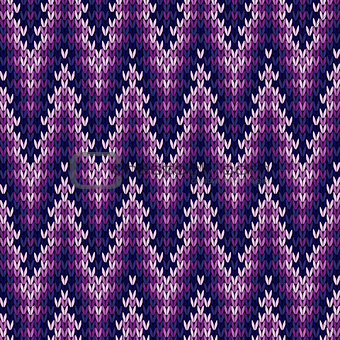Knitted seamless pattern mainly in purple