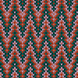 Zigzag knitted seamless pattern