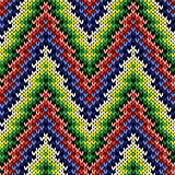 Knitted seamless pattern in various colors