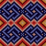 Seamless ornamental knitted pattern