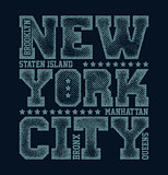 New York City Typography Graphics