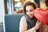 woman in love in Valentines day