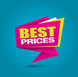 Best price bubble banner in vibrant colors