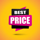 Best price bubble banner in vibrant black and pink colors