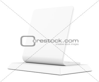 Blank table tent sign, isolated