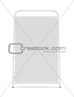 Blank sidewalk signboard isolated
