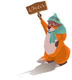 Groundhog Day. Sad marmot predicted winter