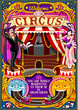 Circus Carnival Tent Invite Theme Park Poster Vector Illustratio