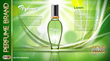Digital vector green glass perfume for women
