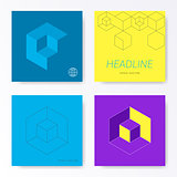 Minimalist modern square card cover designs