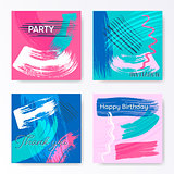 Vector creative artistic square cards
