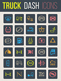 Truck dashboard icon set 2