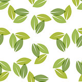 Color of the year 2017. Greenery beautiful trendy seamless pattern.