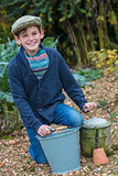 Happy Boy Male Child Gardening