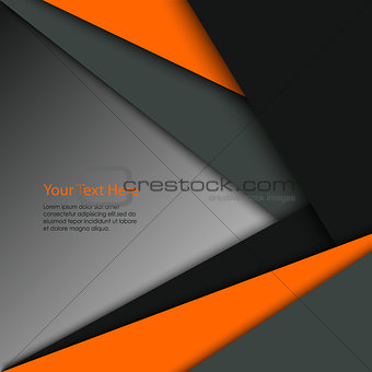 Abstract colored technical triangular stripes background