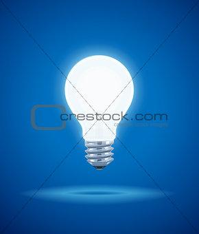 Saving power Shining Electric bulb.