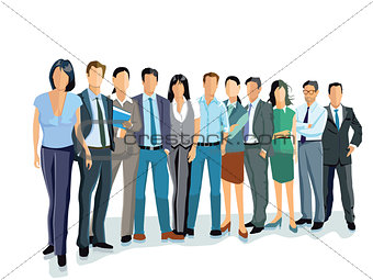 Group of business men and women. Business team and teamwork