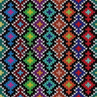 Knitted ornate seamless pattern