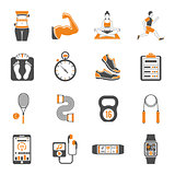 Fitness and Gym Icons Set