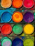 Watercolor paint palette