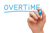 Overtime Handwriting With Blue Marker