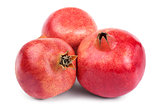 Three ripe pomegranates