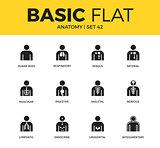 Basic set of anatomy icons