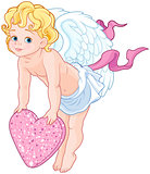 Cupid Holding a Heart