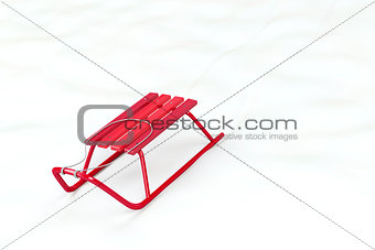 Red sledge