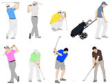 golfers illustration