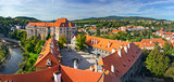 panorama of castle in Cesky Krumlov, Czech republic